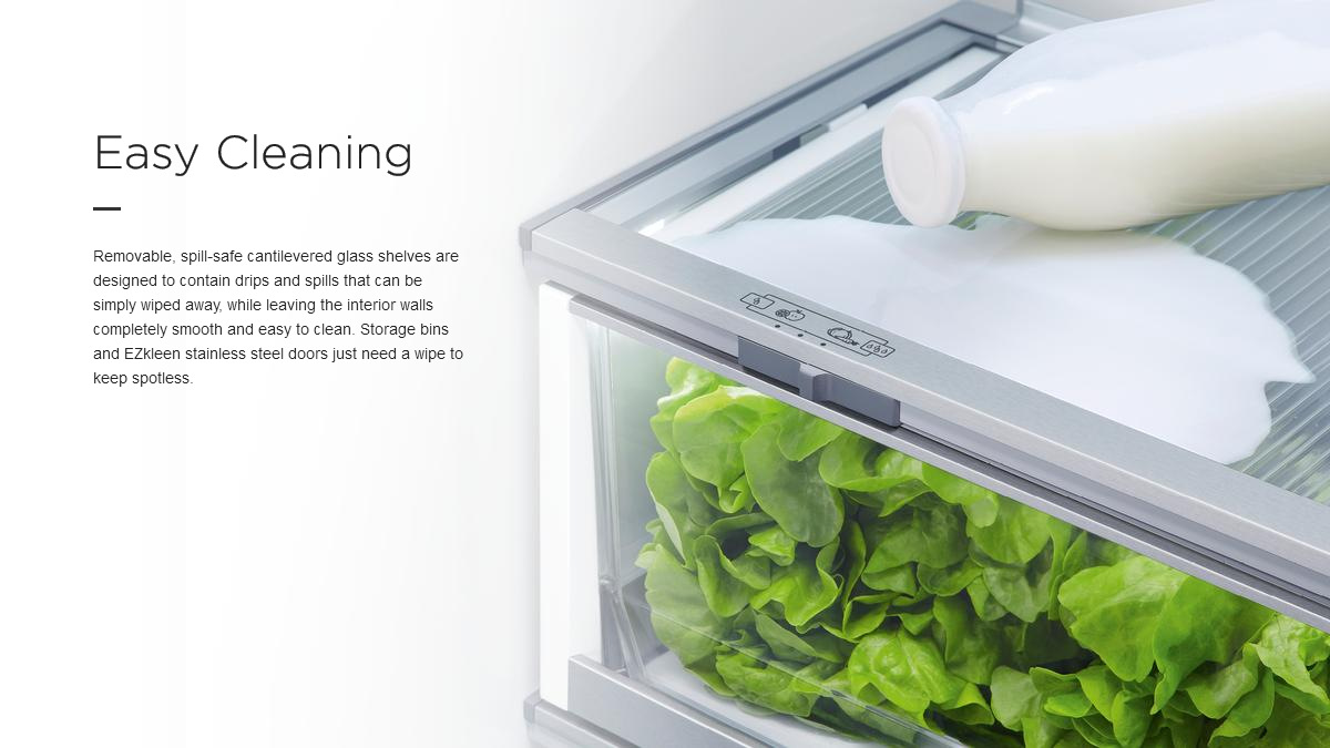 Buitin Fridges Easy Cleaning